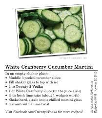 Martini Recipes Vodka White Cranberry Cucumber Martini Twenty 2 Vodka America39s Most