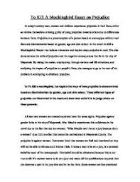 to kill a mockingbird essay on prejudice   gcse english   marked    page  zoom in