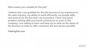 what makes you suitable for this job what makes you suitable for this job