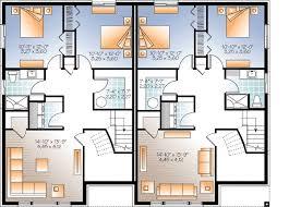 Sleek Modern Multi Family House Plan   DR   CAD Available    Reverse Floor Plan Pinit white