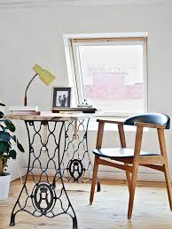 diy desk with vintage sewing machine table legs building an office desk