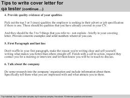 cover letter qa tester   Template
