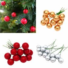 <b>12Pcs Christmas</b> Tree Decorations <b>Simulation</b> Cherry <b>Christmas</b> ...