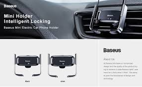 <b>Baseus Automatic Car</b> Phone Holder For iPhone 11 X Xs Max Car ...