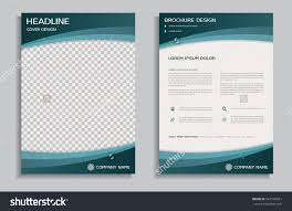 flyer design template brochure annual report stock vector flyer design template brochure annual report front and back page
