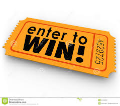 prize drawing clipart clipart kid win words on an orange ticket for a raffle or jackpt drawing where you