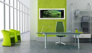 green decor home office with wall mounted aquariums aquarium office
