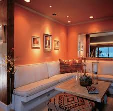Painting Living Room Walls Two Colors Living Room Orange And Green Wall Color For Contemporary Living