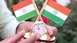 Carsaaz <b>Universal Car Dashboard</b> Indian Flag with Clock: Amazon ...