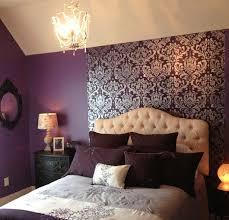 retreat bedroom purples tans