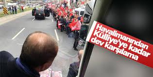 Ankara'da Cumhurbaşkanı'na coşkulu karşılama