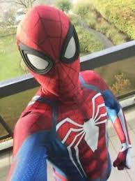 <b>PS4 Insomniac Spiderman Costume</b> Spandex 3D Spider-man ...