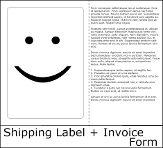 what can you do an ls u part shipping label and invoice why printing forms for invoices the shipping label is a good idea