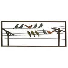 metal wall decor shop hobby: multi color birds on wire metal wall decor shop hobby lobby