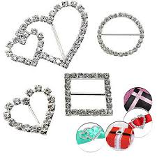 Rhinestone <b>Diamond</b> Buckle Slider Embellishment Ribbons Party ...