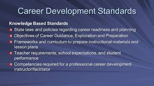 office of career guidance exploration and preparation career 17 career development standards knowledge based standards state laws and policies regarding career readiness and planning objectives of career guidance