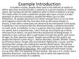 celebrity essay intro paragraphexample introduction