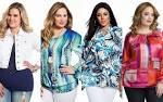Модные блузки для полных 2017 фото