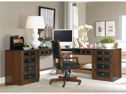 elegant home office design idea black home office executive desk and l shaped brown stained wooden black shaped office desks