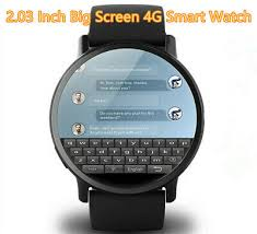 <b>2.03</b> inch Screen <b>LEMFO LEM X</b> 4G Smart Watch Android 7.1 8MP ...