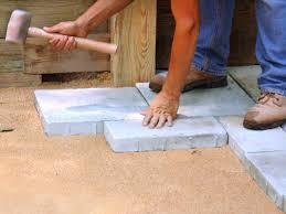 pavers step build