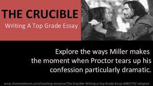 the crucible essay   academic essaythe crucible in class essay topics