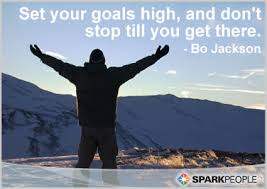 <b>Set your goals high</b>, and don't stop till you get there. | SparkPeople