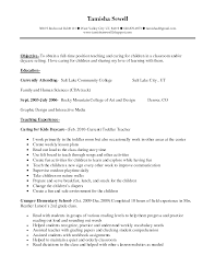 daycare teacher resume perfect resume  daycare teacher resume