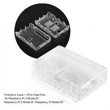 <b>ABS Enclosure Protective Case</b> Shell Cover+2Pcs Heat Sink for RPi ...