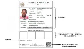 electoral commission to organise and conduct regular and guidelines for issuance of voter location slips