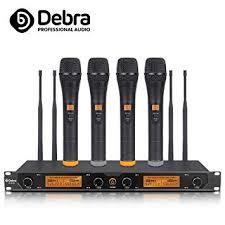 Debra Audio D-240 UHF <b>4 Channel Wireless Microphone</b> System ...