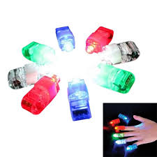 <b>8 Colors</b>/Set <b>LED Laser</b> Finger Ring Lights Beam Torch Party Decor ...