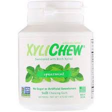 Xylichew, <b>Spearmint</b>, <b>60 Pieces</b>, <b>2.75</b> oz (78 g) | Spearmint, Xylitol ...