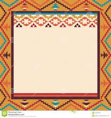 Colorful Border In Navajo