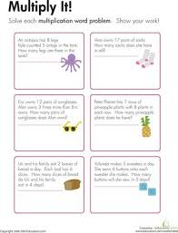 Multiplication, Word problems and Worksheets on Pinterest