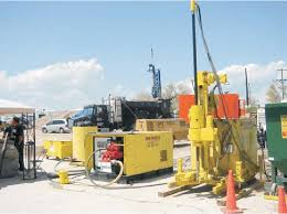 <b>Compact jet</b> grouting equipment ready for action. | Download ...