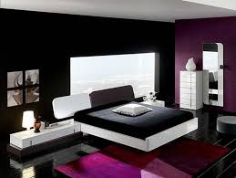 delightful furniture bedroom ideas with purple bright paint colors and white divan black bed also mirror architectural mirrored furniture design