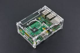 <b>Transparent Acrylic Case</b> with Cooling fan for Raspberry Pi B+/2B ...