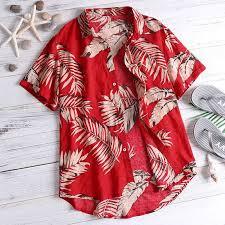 <b>Tropical Shirts Summer Men</b> Tops Casual Hawaiian Shirt Short ...