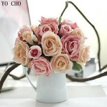 9 головок свадебные <b>декоративные цветы</b> искусственные <b>цветы</b> ...