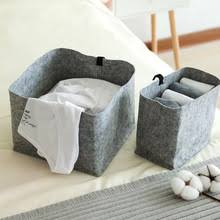 Wool Felt Foldable Storage Basket Rectangular <b>Decorative</b> ...