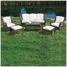 patio table and 6 chairs: wilson amp fisherar cayman  piece deep seating set at big lots