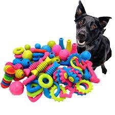 <b>1Pc</b> Random Color Rubber <b>Dog</b> Toys Bite Resistant <b>Dog Chew Toy</b> ...