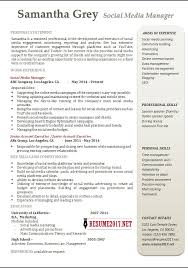 social media manager resume examples •social manager resume samples