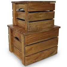 OnlineGymShop CB20419 <b>Storage Crate Set</b> Solid Reclaimed ...