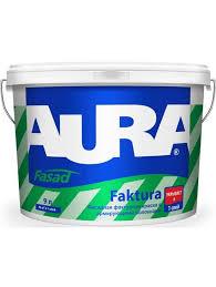 <b>Краска в/д фасадная</b> с волокнами ESKARO <b>AURA</b> FAKTURA 9 л ...