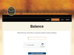 Tullys | Gift Card Balance Check | Balance Enquiry, Links & Reviews ...