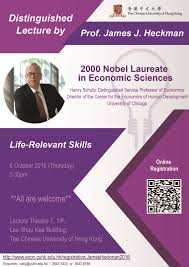 distinguished lecture by prof james j heckman life relevant james j heckman life relevant skills