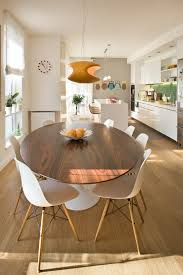 european apartment contemporary kitchen dining combo idea in other with white walls and light hardwood floors dining tables modern b131t modern noble lacquer dining table