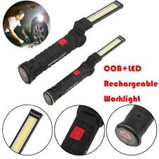 <b>COB</b>+<b>LED Rechargeable Magnetic Torch</b> Flexible Inspection Lamp ...